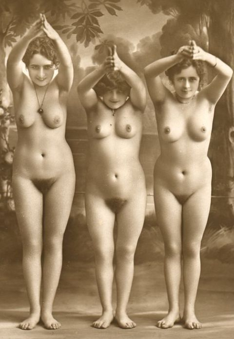Diving Nudes From A French Postcard Titty Blog