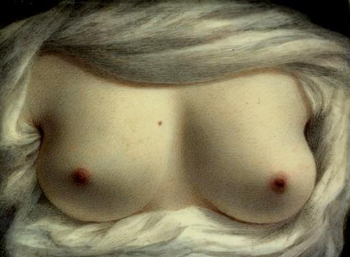 vintage painted boobs