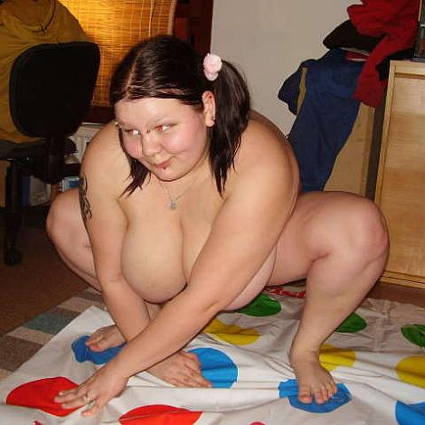 With naked girls twister