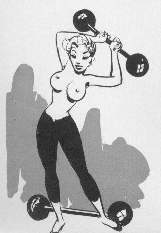 nude girl with big boobs lifting weights