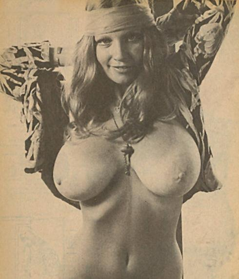 happy hippie with big boobs