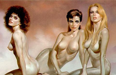 nude mermaid sirens