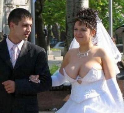 the bride and her bodacious boobs