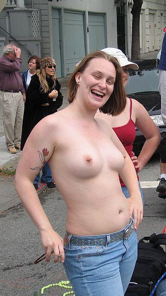 Titties at mardi gras