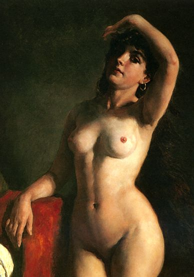 oil painting tits