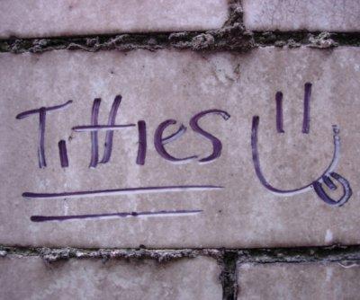 titty graffiti